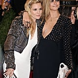 """Brits and besties Sienna Miller and Cara Delevigne share an affectionate friendship, so much so that Sienna had to adress their intimacy after pictures of her kissing Cara surfaced from the 2013 Met Gala. Of the incident, Sienna clarified, """"I did not snog Cara! She is like my little sister. In fact she kissed me."""""""