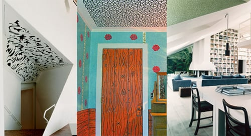 Midday Muse: Wallpapered Ceilings