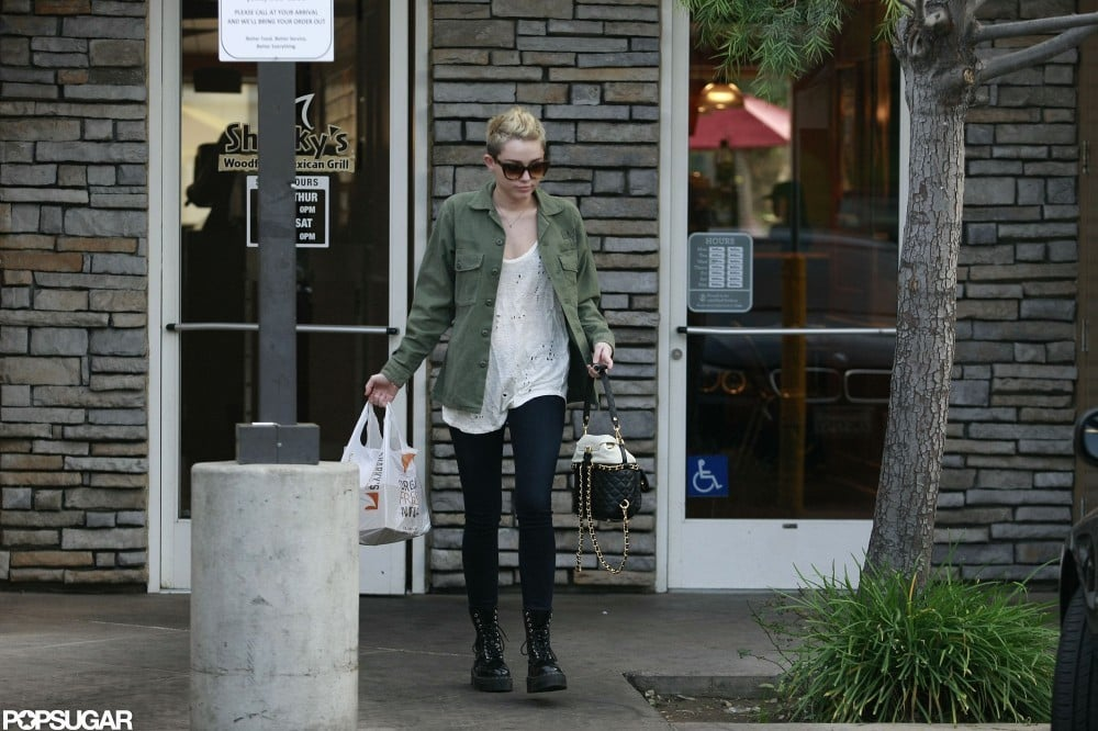 Miley Cyrus Brings Her New Dog Along to the Studio