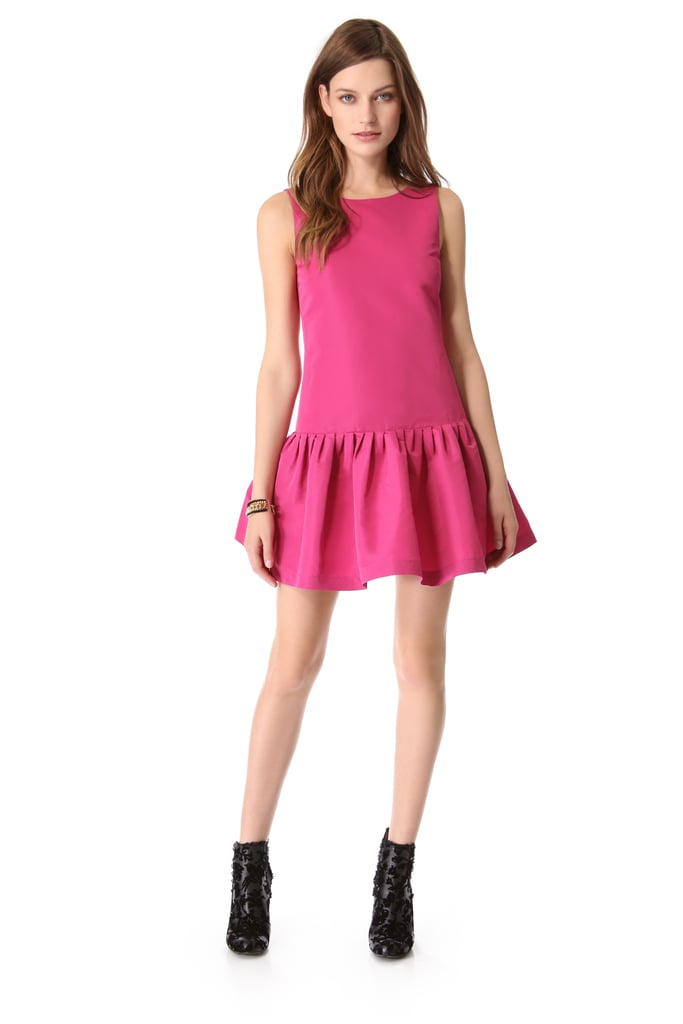 This flirty fuchsia Red Valentino style ($595) is totally ready to party — and the drop waist adds an extra hint of design.