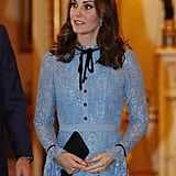 Kate Middleton Blue Temperley Dress