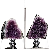 Amethyst Bookends Set