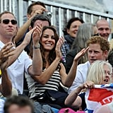 Prince William, Kate Middleton, and Prince Harry clapped during the competitions.