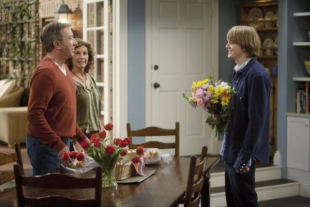Nancy Travis, Tim Allen, and Christoph Sanders in ABC's Last Man Standing.
