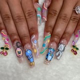 There Are No Rules With the Y2K Nail-Art Trend - We Spy Flames, Cheetah Print, Glitter, and More