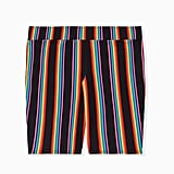 Torrid Celebrate Love Black & Rainbow Stripe Bike Short