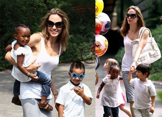 The Jolie-Pitts Hit the NYC Parks and the Hamptons