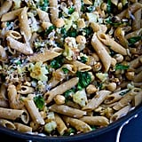 Vegetarian Chickpea Pasta With Roasted Cauliflower