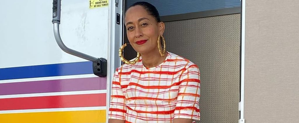 Tracee Ellis Ross Wears Rosie Assoulin Set and Nikes
