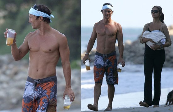 Photos of Matthew McConaughey and Camila Alves With Levi at the Beach
