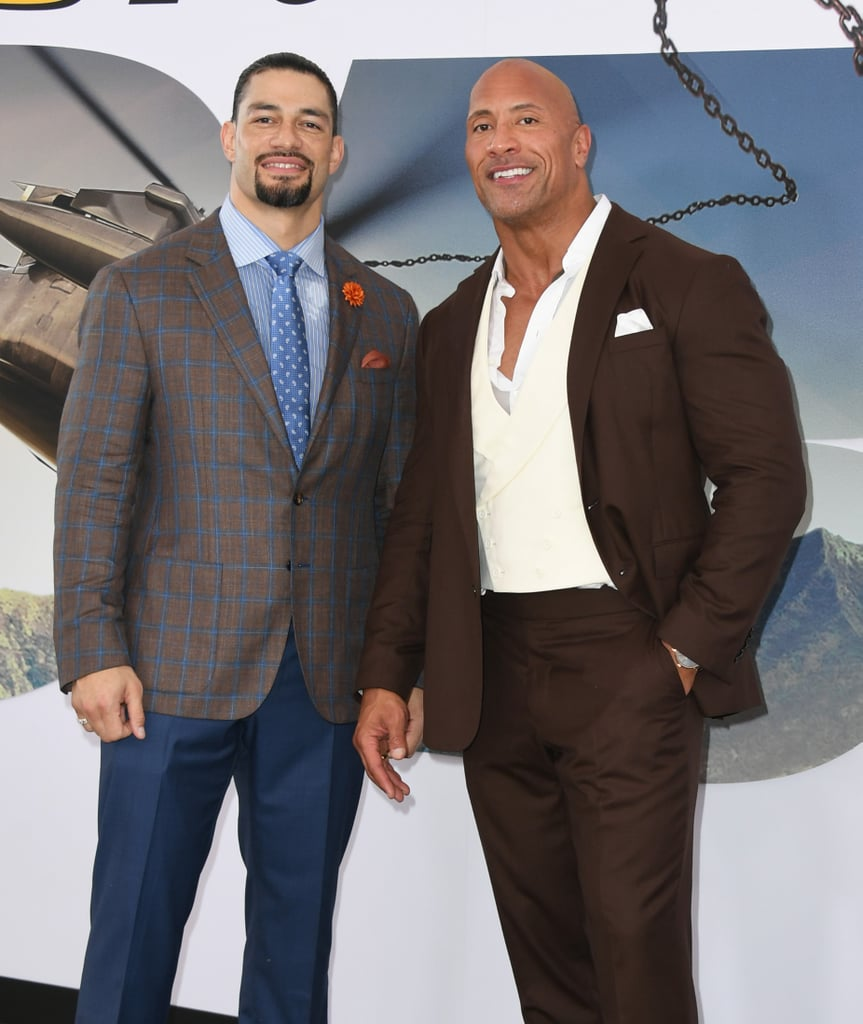 "Dwayne Johnson and Roman Reigns (née Joe Anoa'i) play brothers Luke and Mateo in the Fast and Furious spinoff Hobbs and Shaw, but they also share a special familial connection in real life. Even though they're not technically related, Dwayne and Roman often refer to each other as cousins since their families have known each other for years. Hobbs and Shaw marks 34-year-old WWE wrestler Roman's first movie role since his leukemia went into remission earlier this year. In an interview with ET, The Rock revealed why Roman was the perfect choice for the film. ""When we had the opportunity to showcase my Samoan culture, I thought, 'Well, let me go get my real blood,'"" he explained. ""And, I went out and got Roman Reigns, but he had to earn the part. He sent his audition tape in like everybody else."" Roman has been battling cancer since he was 22, and back in October 2018, he relinquished his WWE Universal Championship to battle the disease. We're so glad to see he's doing much better!"