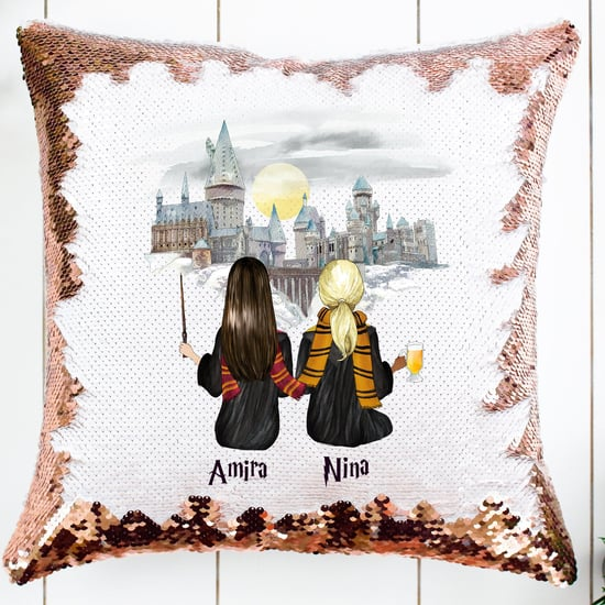 Harry Potter Custom Best Friend Sequin Pillow on Etsy