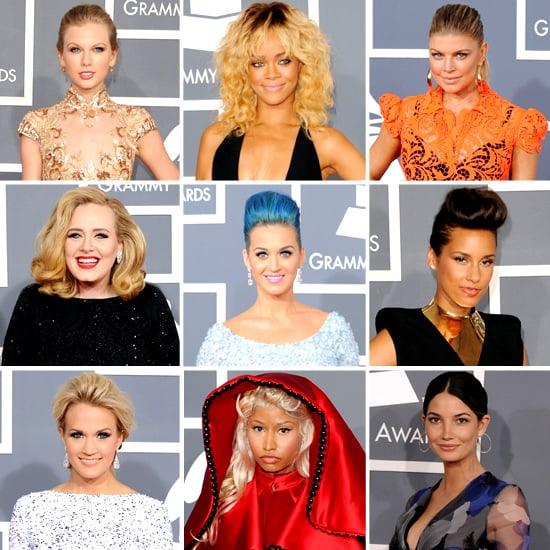 All the Red Carpet Fashion from the 2012 Grammys: Find Out What Rihanna, Adele, Fergie, Taylor Swift and More Wore!