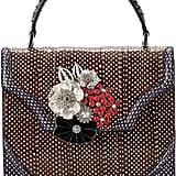 Alexander McQueen Polka-Dot Snakeskin Satchel Bag w/Floral Brooch ($3,895)