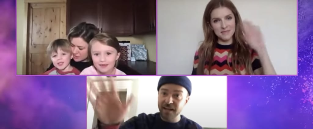 Kelly Clarkson's Kids Crash Interview With Trolls Costars