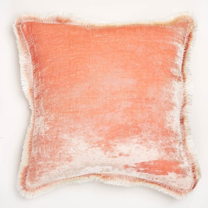 Anke Drechsel Silk Velvet Fringe Pillow Throw Pillows