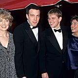 Pictured: Chris Affleck, Ben Affleck, Matt Damon, and Matt's mother Nancy Carlsson-Paige