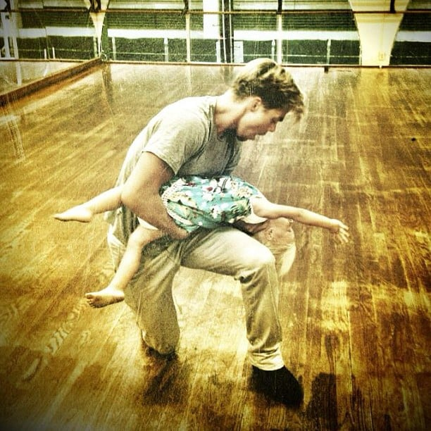 Derek Hough showed off some moves with a pint-sized dance partner. Source: Instagram user derekhough