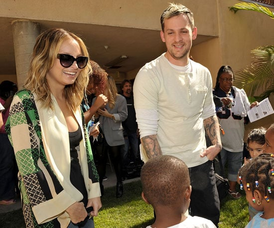 Slide Photo of Nicole Richie and Joel Madden at Beyond Shelter