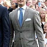 Prince Carl Philip attended his sister's birthday celebrations.