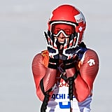 Switzerland's Dominique Gisin finished the course in 1 minute and 41.57 seconds.