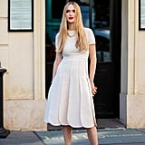 Wear a White Dress With a Square-Toe Style