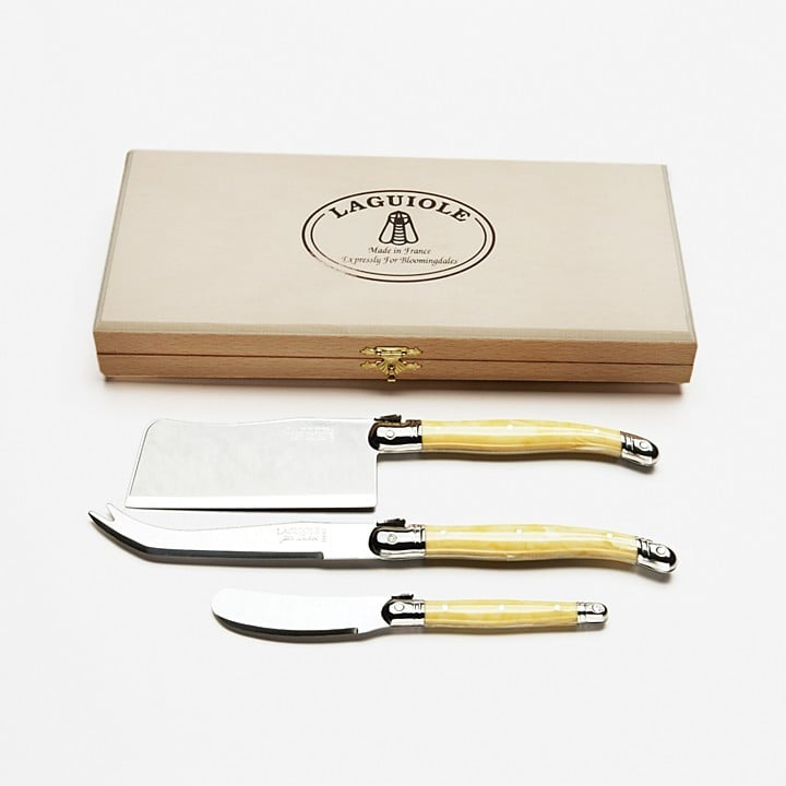 Laguiole Jean Dubost Dubost Light Horn Cheese Knives, Set of 3 ($50)