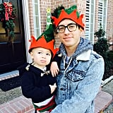 Kevin McHale posed with an adorable little elf.