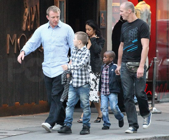 Slide Picture of Guy Ritchie With David Banda and Rocco Ritchie
