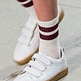 Velcro straps make these platform trainers all the more easy to slip into.