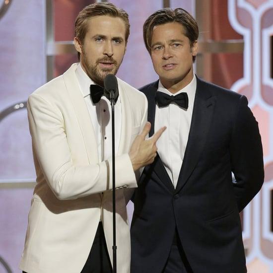 Brad Pitt und Ryan Gosling bei den Golden Globes 2016