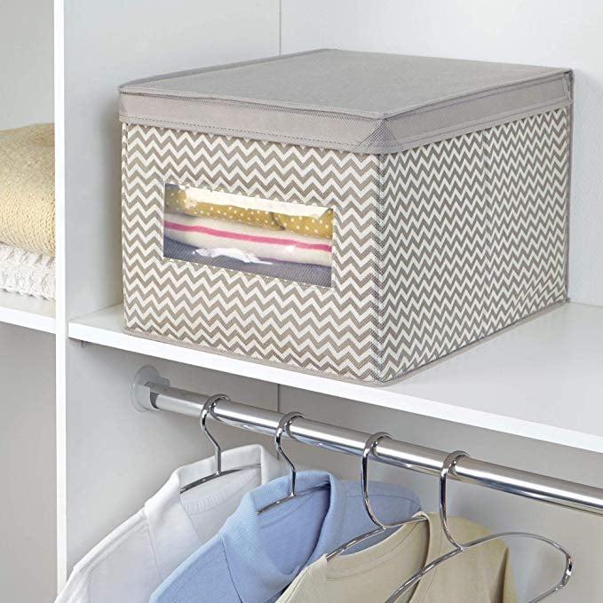 mDesign Soft Fabric Stackable Closet Storage Organizer