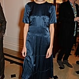 We loved how Alexa Chung topped off her silky dress and ankle booties with a glitzy choker.