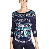 "Isabella's Closet ""You Spin Me Right Round, Baby"" Dreidel Hannukkah Sweater"