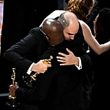 No beef here — just some real, genuine hugging after a supremely awkward moment. RelatedBarry Jenkins Describes the Moment He Realized Moonlight Won Best Picture