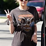 Miley Cyrus Shows Off a New Tattoo —Her Fourth — in a Ripped Shirt!