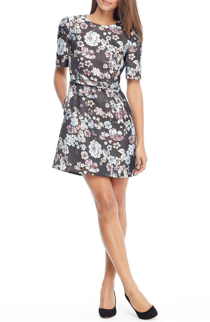 Gal Meets Glam Collection Presley Tapestry Jacquard Dress