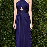 A Purple Gown With Cutout Details