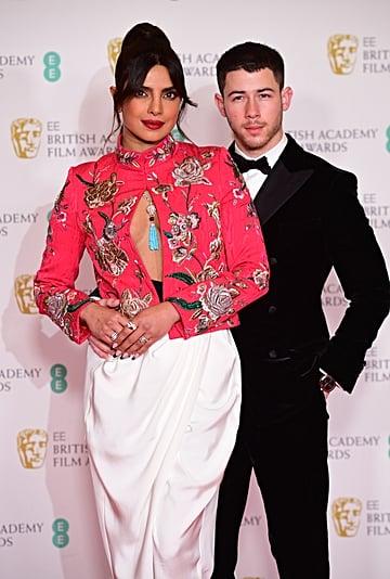Priyanka Chopra's Black French Manicure at BAFTA Awards 2021