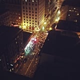 A birdseye view of one of the starting corrals. Many runners began their journey while it was still pitch black out.  Source: Instagram user lyndsanity