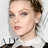 Jessica Stam's hair took on a grungy twist with this undone braided style.
