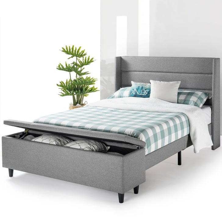Cheap Modern Bed: Mellow Modern Upholstered Platform Bed