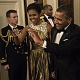 Michelle and Barack Obama arrived at the Kennedy Center Honors.