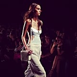 You can look forward to chic cutaways and flowing pants from the BCBG Max Azria Spring line.