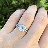 Etsy Round Cut Square Halo Split Shank Engagement Ring