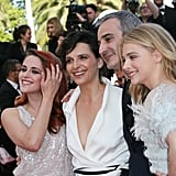 The cast of Clouds of Sils Maria got together for a smiley photo.