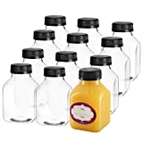 8 Oz Empty Plastic Juice Bottles with Lids