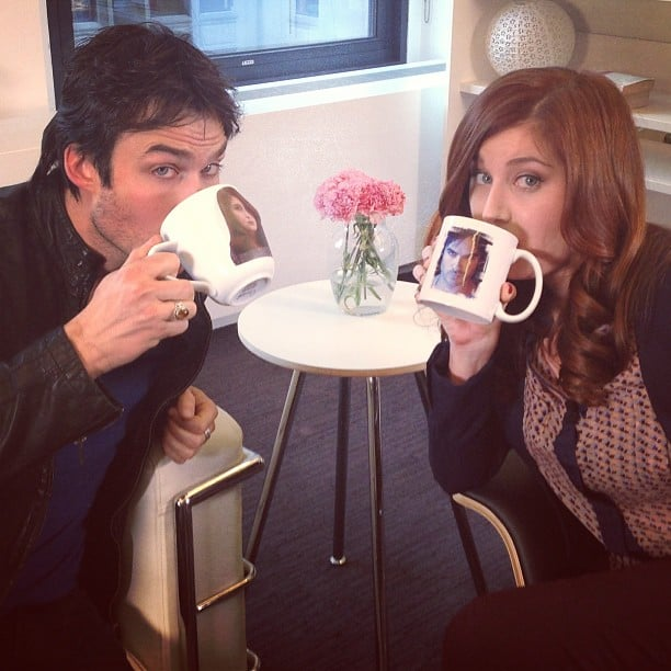 Ian Somerhalder stopped by our New York office for an interview, so we obviously had to make matching mugs.