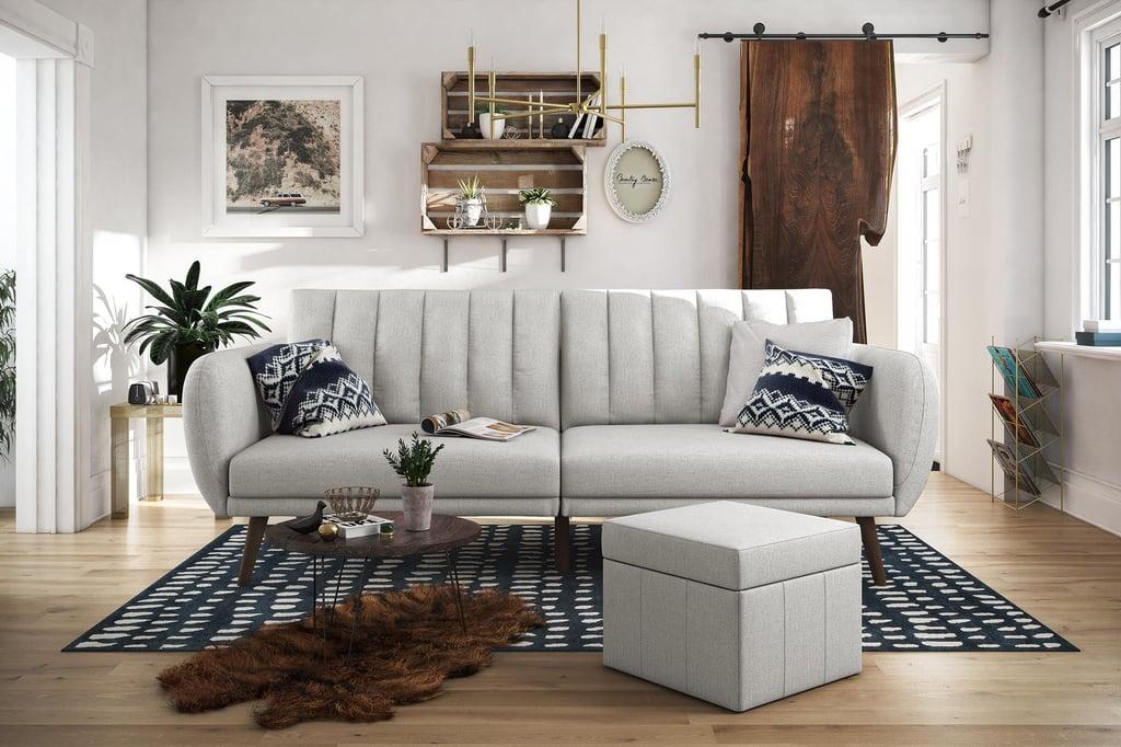 Novogratz Brittany Linen Futon Couch