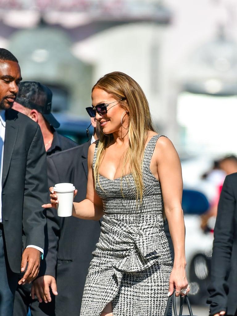 Jennifer Lopez's Tweed Plaid Dress